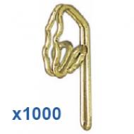 1000 Brass Hooks