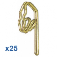 25 Brass Hooks