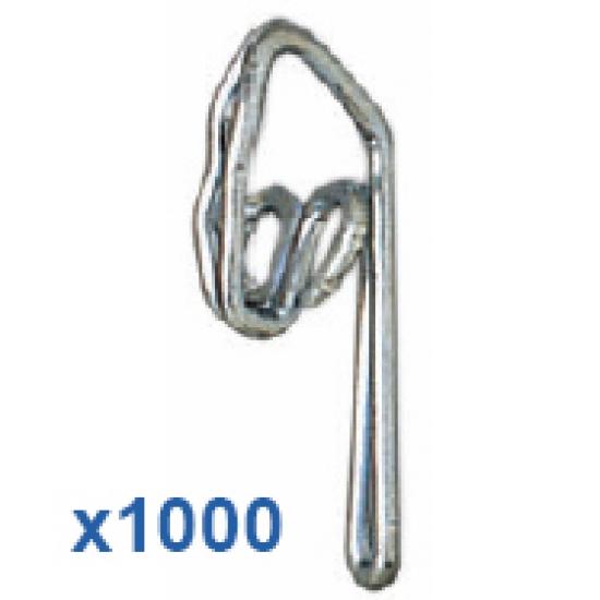 1000 Steel Zinc Plated Curtain Hooks