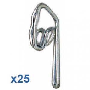 25 Steel Zinc Plated Curtain Hooks