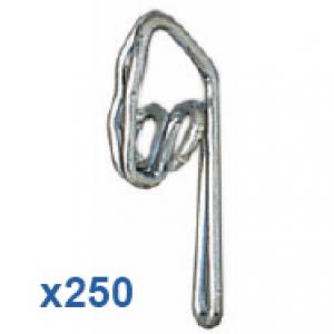 250 Steel Zinc Plated Curtain Hooks