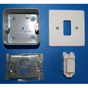 Special offer Non latching switch with recess box in White