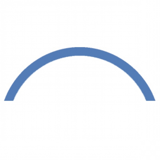 Semi-circle or gradual curve over 200mm radius for 6100 Cubical 6101 profile systems  (price per bend)