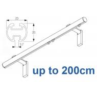 1003M 23mm Metropole Silver, White, Matt White, Ecru  up to 200cm complete