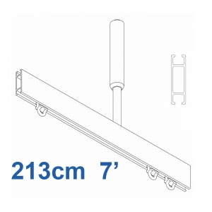 1085 Shower Rail Straight  in Silver (Reversible) 213cm  7'  (DISCONTINUED April 2019)