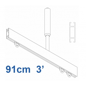 1085 Shower Rail Straight  in Silver (Reversible) 91cm  3' (DISCONTINUED April 2019)