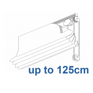 2120 Chain operated Headrail system up to 125cm