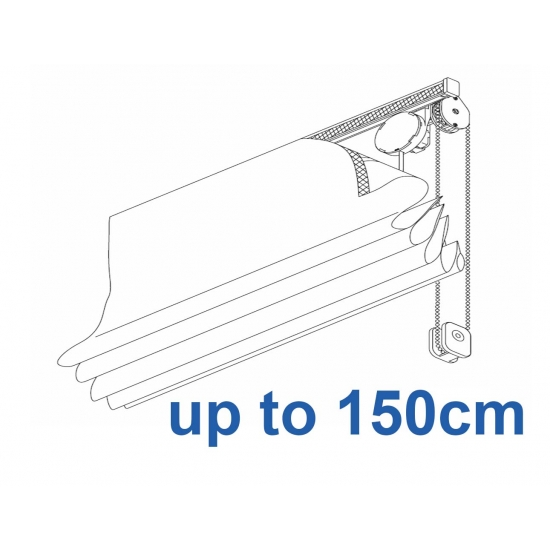 2120 Chain operated Headrail system up to 150cm