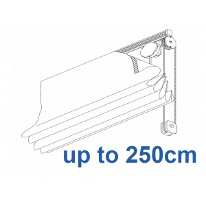 2120 Chain operated Headrail system up to 250cm