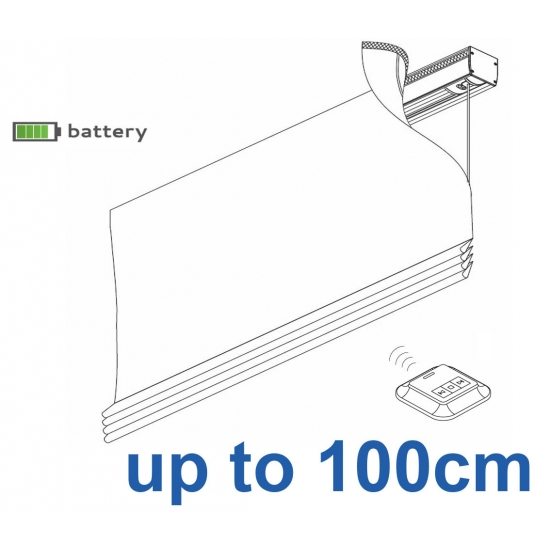 2345 Battery operated Headrail system up to 100cm