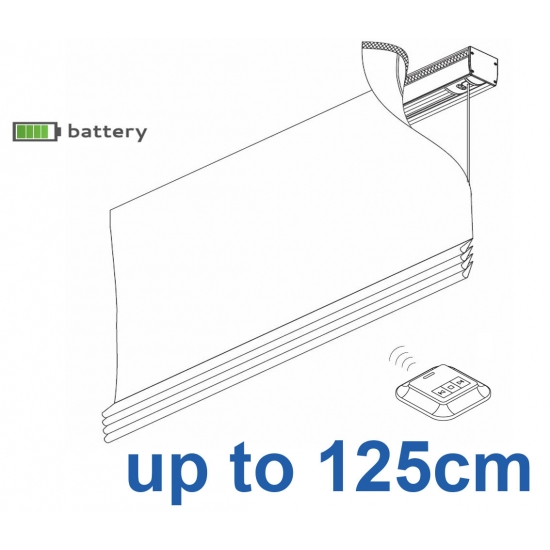 2345 Battery operated Headrail system up to 125cm