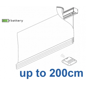 2345 Battery operated Headrail system up to 200cm