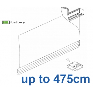 2345 Battery operated Headrail system up to 475cm