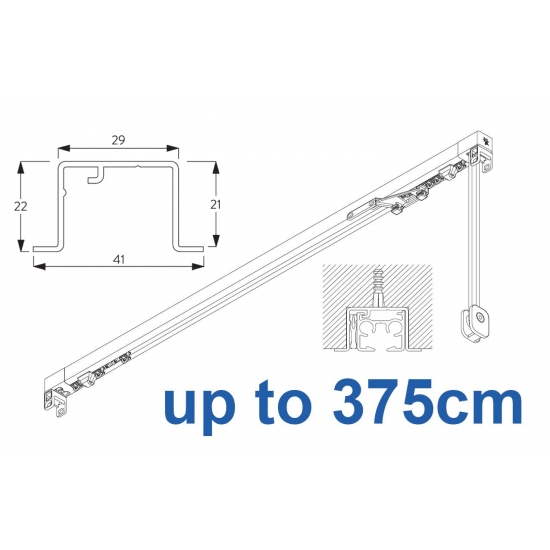 3870 corded & 3870 Wave corded, recess systems (White only) up to 375cm Complete