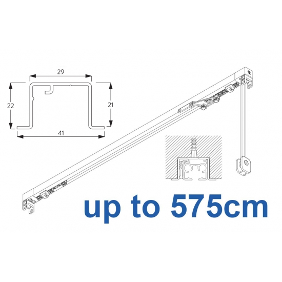 3870 corded & 3870 Wave corded, recess systems (White only) up to 575cm Complete