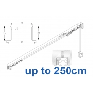 3970 corded & 3970 Wave corded, recess systems (White only)  up to 250cm Complete