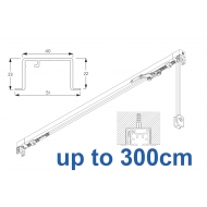 3970 corded & 3970 Wave corded, recess systems (White only)  up to 300cm Complete