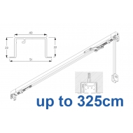 3970 corded & 3970 Wave corded, recess systems (White only)  up to 325cm Complete