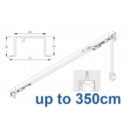 3970 corded & 3970 Wave corded, recess systems (White only)  up to 350cm Complete