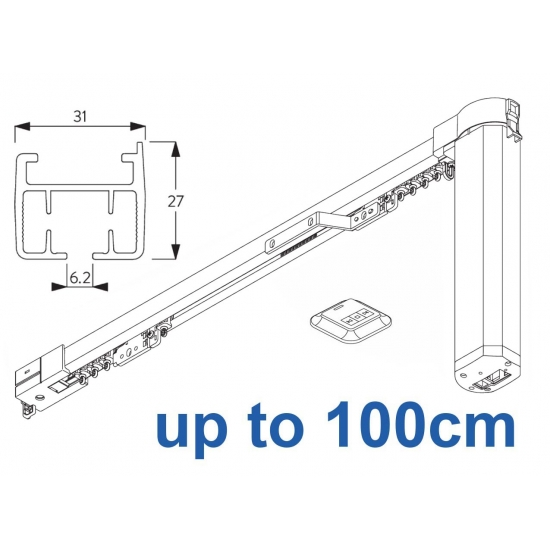 5100B Basic Autoglide system with Wireless wall switch up to 100cm Complete
