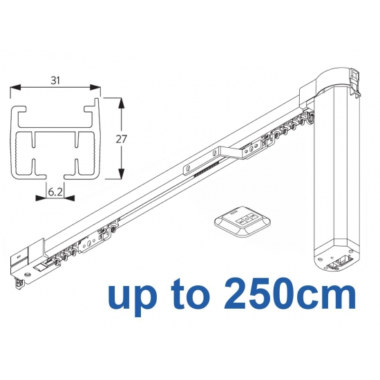 5100B Basic Autoglide system with Wireless wall switch up to 250cm Complete