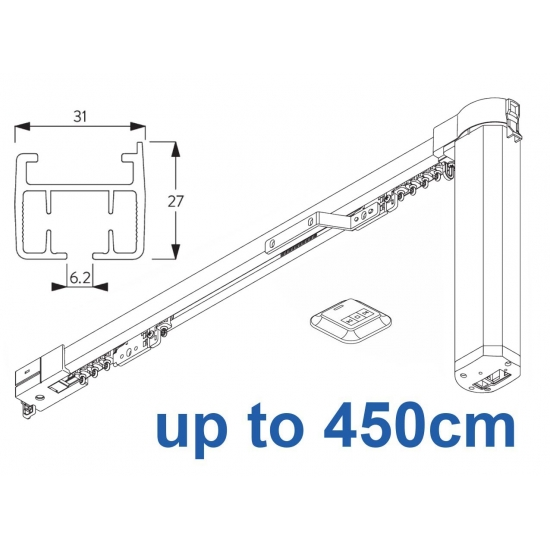 5100B Basic Autoglide system with Wireless wall switch up to 450cm Complete