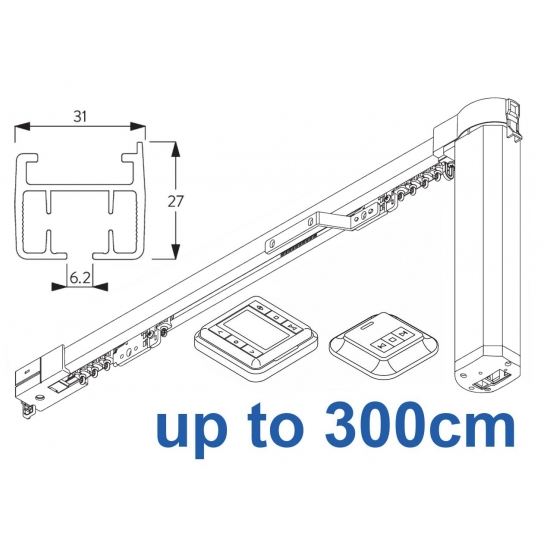 5100T Timer Autoglide system with Wireless Timer and Wireless wall switch up to 300cm Complete
