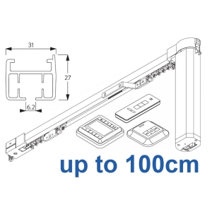 5100TC Total Control Autoglide system with Wireless Timer, Remote and Wireless wall switch up to 100cm Complete