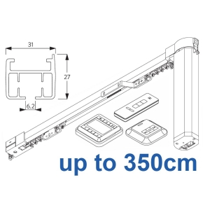 5100TC Total Control Autoglide system with Wireless Timer, Remote and Wireless wall switch up to 350cm Complete