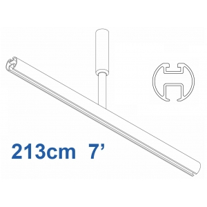 6103 Shower Rail  Straight in White  213cm  7'