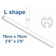 6103 Shower Rail  L shape in White  76cm x 76cm