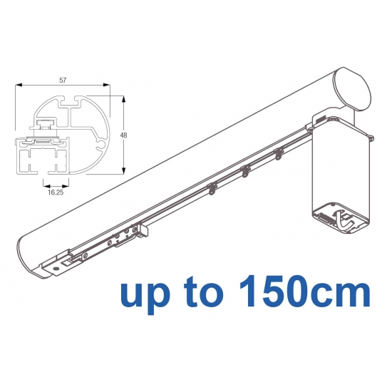 6150M-5600 50mm Electric Metropole with 5600 system, Silver, Black, White, Matt White, Ecru up to 150cm complete