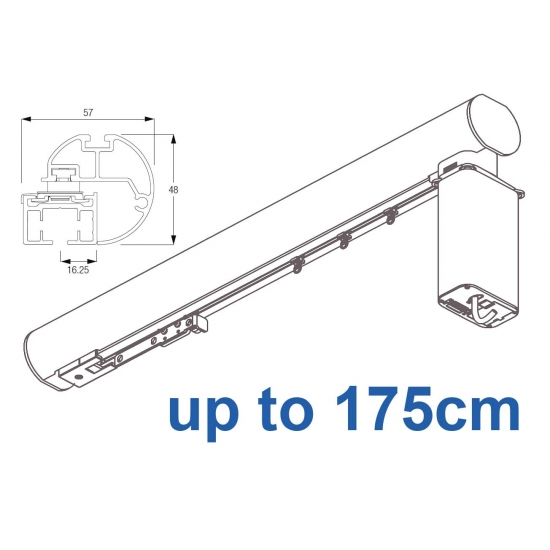6150M-5600 50mm Electric Metropole with 5600 system, Silver, Black, White, Matt White, Ecru up to 175cm complete