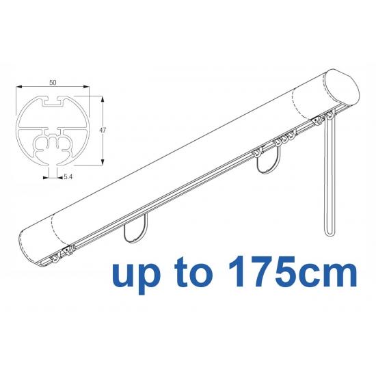 6160M 50mm Cord Drawn Metropole White, Black, Matt White, Ecru up to 175cm complete