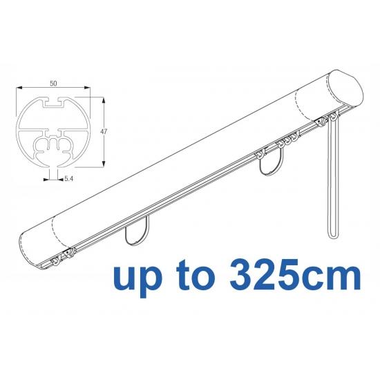6160M 50mm Cord Drawn Metropole White, Black, Matt White, Ecru up to 325cm complete