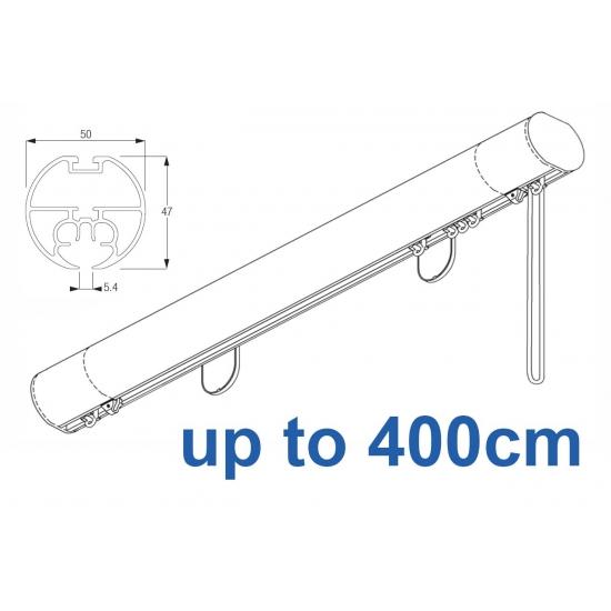 6160M 50mm Cord Drawn Metropole White, Black, Matt White, Ecru up to 400cm complete