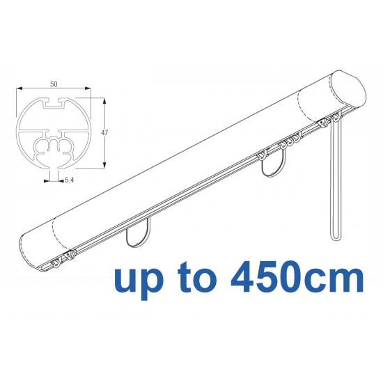 6160M 50mm Cord Drawn Metropole White, Black, Matt White, Ecru up to 450cm complete