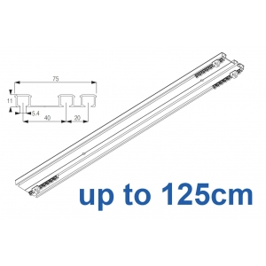6293 Hand operated triple track system (White only)  up to 125cm Complete
