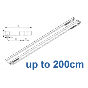 6293 Hand operated triple track system (White only)  up to 200cm Complete