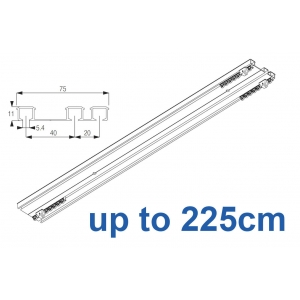 6293 Hand operated triple track system (White only)  up to 225cm Complete