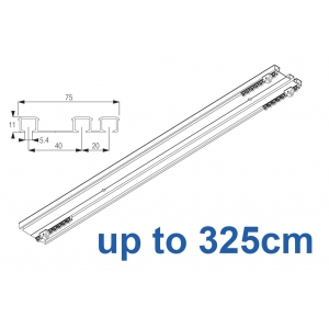 6293 Hand operated triple track system (White only)  up to 325cm Complete