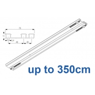 6293 Hand operated triple track system (White only)  up to 350cm Complete