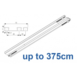 6293 Hand operated triple track system (White only)  up to 375cm Complete