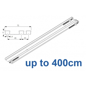 6293 Hand operated triple track system (White only)  up to 400cm Complete