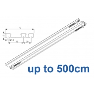 6293 Hand operated triple track system (White only)  up to 500cm Complete