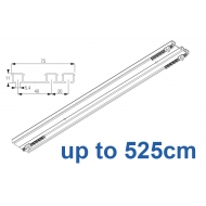 6293 Hand operated triple track system (White only)  up to 525cm Complete