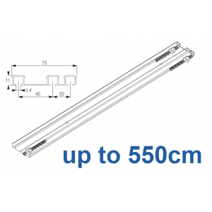 6293 Hand operated triple track system (White only)  up to 550cm Complete