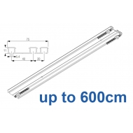 6293 Hand operated triple track system (White only)  up to 600cm Complete