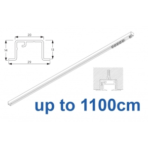 6465 & 6465 Wave Hand Operated, recess systems (White only) up to 1100cm Complete