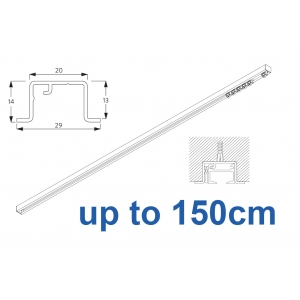 6465 & 6465 Wave Hand Operated, recess systems (White only) up to 150cm Complete